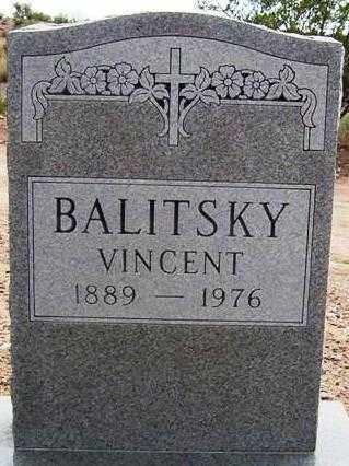 BALITSKY, VINCENT - Maricopa County, Arizona | VINCENT BALITSKY - Arizona Gravestone Photos