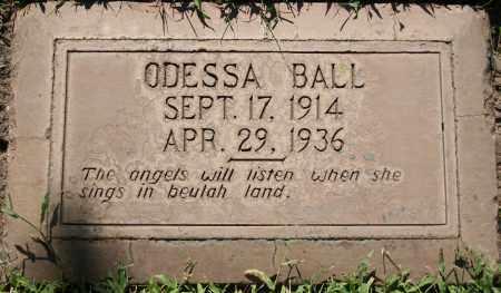 BALL, ODESSA W - Maricopa County, Arizona | ODESSA W BALL - Arizona Gravestone Photos
