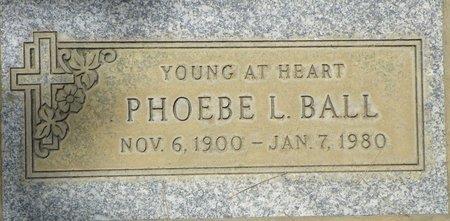 BALL, PHOEBE L - Maricopa County, Arizona | PHOEBE L BALL - Arizona Gravestone Photos