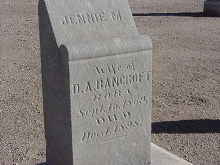 BANCROFT, JENNIE M - Maricopa County, Arizona | JENNIE M BANCROFT - Arizona Gravestone Photos
