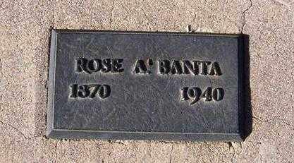 BANTA, ROSE ANN - Maricopa County, Arizona | ROSE ANN BANTA - Arizona Gravestone Photos