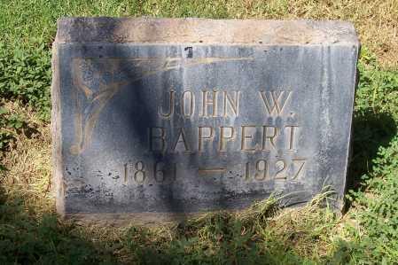 BAPPERT, JOHN W. - Maricopa County, Arizona | JOHN W. BAPPERT - Arizona Gravestone Photos