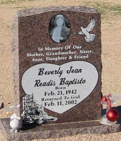 BAPTISTO, BEVERLY JEAN - Maricopa County, Arizona   BEVERLY JEAN BAPTISTO - Arizona Gravestone Photos