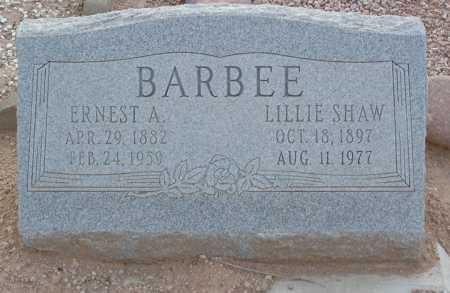 BARBEE, ERNEST A - Maricopa County, Arizona | ERNEST A BARBEE - Arizona Gravestone Photos