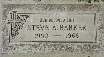 BARKER, STEVE A - Maricopa County, Arizona   STEVE A BARKER - Arizona Gravestone Photos