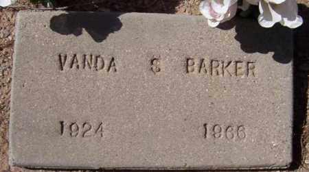 BARKER, VANDA S. - Maricopa County, Arizona   VANDA S. BARKER - Arizona Gravestone Photos