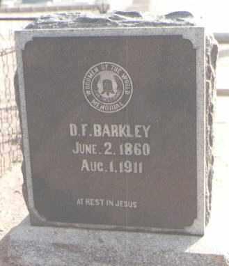 BARKLEY, D. F. - Maricopa County, Arizona | D. F. BARKLEY - Arizona Gravestone Photos