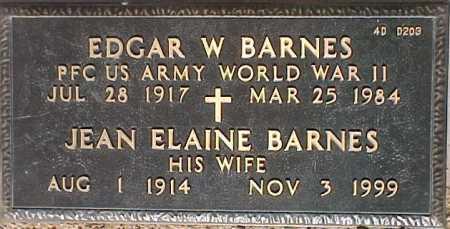 BARNES, EDGAR W. - Maricopa County, Arizona | EDGAR W. BARNES - Arizona Gravestone Photos