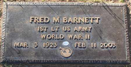 BARNETT, FRED M - Maricopa County, Arizona | FRED M BARNETT - Arizona Gravestone Photos