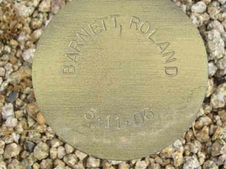 BARNETT, ROLAND - Maricopa County, Arizona   ROLAND BARNETT - Arizona Gravestone Photos