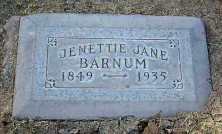 BARNUM, JENETTIE JANE - Maricopa County, Arizona | JENETTIE JANE BARNUM - Arizona Gravestone Photos