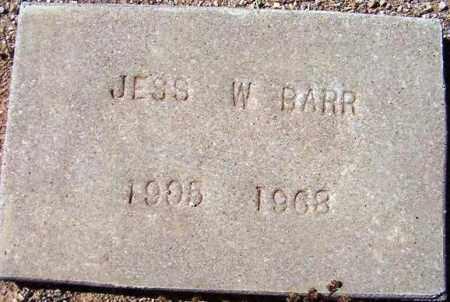 BARR, JESS W. - Maricopa County, Arizona   JESS W. BARR - Arizona Gravestone Photos