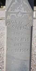 BARRETT, CADA M. - Maricopa County, Arizona | CADA M. BARRETT - Arizona Gravestone Photos