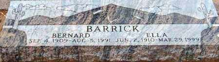 BARRICK, ELLA - Maricopa County, Arizona | ELLA BARRICK - Arizona Gravestone Photos
