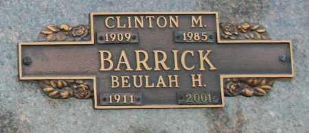 BARRICK, CLINTON M - Maricopa County, Arizona   CLINTON M BARRICK - Arizona Gravestone Photos