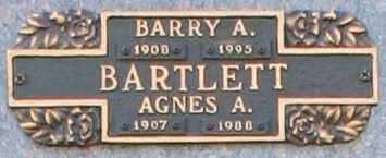 BARTLETT, AGNES A - Maricopa County, Arizona | AGNES A BARTLETT - Arizona Gravestone Photos