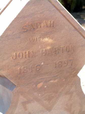 BARTON, SARAH - Maricopa County, Arizona | SARAH BARTON - Arizona Gravestone Photos