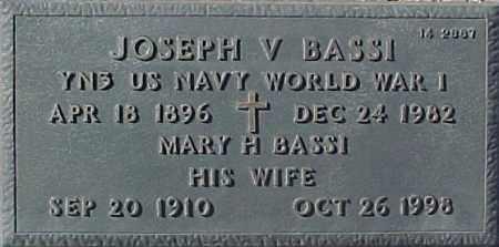 BASSI, MARY H. - Maricopa County, Arizona   MARY H. BASSI - Arizona Gravestone Photos
