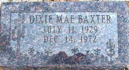 BAXTER, DIXIE MAE - Maricopa County, Arizona | DIXIE MAE BAXTER - Arizona Gravestone Photos