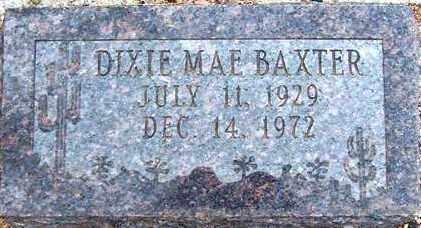 BAXTER, DIXIE MAE - Maricopa County, Arizona | DIXIE MAE BAXTER - Arizona Gravestone Photos