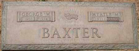 BAXTER, MYRTLE M. - Maricopa County, Arizona | MYRTLE M. BAXTER - Arizona Gravestone Photos