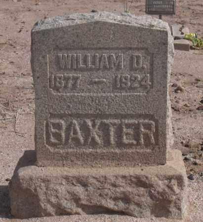 BAXTER, WILLIAM D. - Maricopa County, Arizona | WILLIAM D. BAXTER - Arizona Gravestone Photos