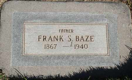 BAZE, FRANK S - Maricopa County, Arizona | FRANK S BAZE - Arizona Gravestone Photos