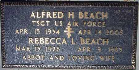 BEACH, ALFRED H - Maricopa County, Arizona   ALFRED H BEACH - Arizona Gravestone Photos