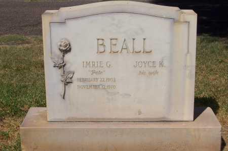 BEALL, IMRIE G. - Maricopa County, Arizona | IMRIE G. BEALL - Arizona Gravestone Photos