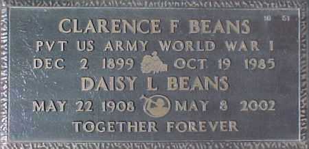 BEANS, CLARENCE F. - Maricopa County, Arizona | CLARENCE F. BEANS - Arizona Gravestone Photos