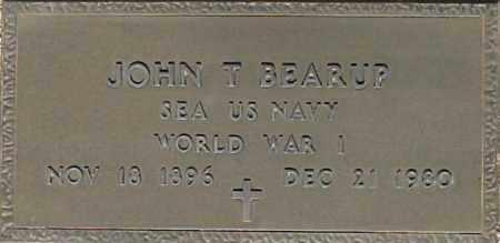 BEARUP, JOHN T - Maricopa County, Arizona   JOHN T BEARUP - Arizona Gravestone Photos