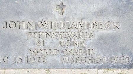 BECK, JOHN WILLIAM - Maricopa County, Arizona | JOHN WILLIAM BECK - Arizona Gravestone Photos