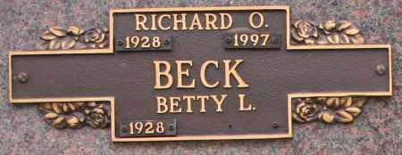 BECK, RICHARD O - Maricopa County, Arizona | RICHARD O BECK - Arizona Gravestone Photos