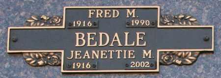BEDALE, JEANETTIE M - Maricopa County, Arizona | JEANETTIE M BEDALE - Arizona Gravestone Photos