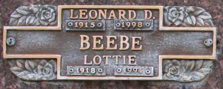 BEEBE, LOTTIE - Maricopa County, Arizona | LOTTIE BEEBE - Arizona Gravestone Photos
