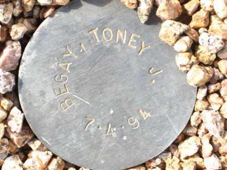 BEGAY, TONEY J. - Maricopa County, Arizona   TONEY J. BEGAY - Arizona Gravestone Photos