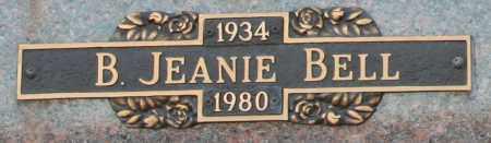 BELL, B. JEANIE - Maricopa County, Arizona | B. JEANIE BELL - Arizona Gravestone Photos