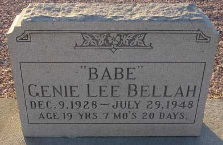 BELLAH, GENIE LEE - Maricopa County, Arizona | GENIE LEE BELLAH - Arizona Gravestone Photos