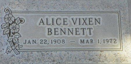 BENNETT, ALICE VIXEN - Maricopa County, Arizona | ALICE VIXEN BENNETT - Arizona Gravestone Photos