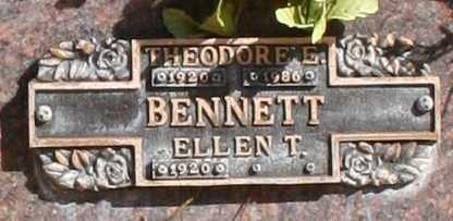BENNETT, THEODORE E - Maricopa County, Arizona   THEODORE E BENNETT - Arizona Gravestone Photos