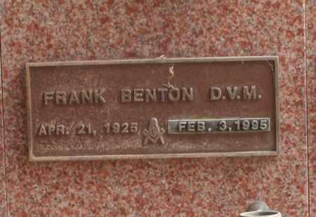 BENTON, FRANK - Maricopa County, Arizona | FRANK BENTON - Arizona Gravestone Photos