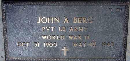 BERG, JOHN A. - Maricopa County, Arizona   JOHN A. BERG - Arizona Gravestone Photos