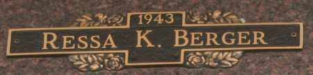 BERGER, RESSA K - Maricopa County, Arizona | RESSA K BERGER - Arizona Gravestone Photos