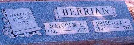 BERRIAN, PRISCILLA E. - Maricopa County, Arizona | PRISCILLA E. BERRIAN - Arizona Gravestone Photos