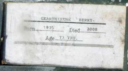 BERRY, GEARTHIRENE - Maricopa County, Arizona | GEARTHIRENE BERRY - Arizona Gravestone Photos