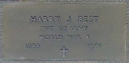 BEST, HARRY J - Maricopa County, Arizona | HARRY J BEST - Arizona Gravestone Photos
