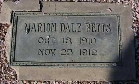 BETTS, MARION DALE - Maricopa County, Arizona | MARION DALE BETTS - Arizona Gravestone Photos