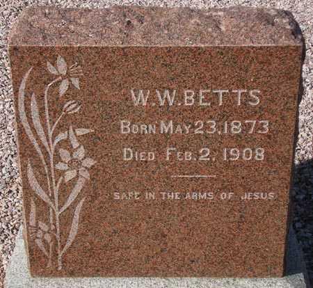 BETTS, W. W. - Maricopa County, Arizona | W. W. BETTS - Arizona Gravestone Photos