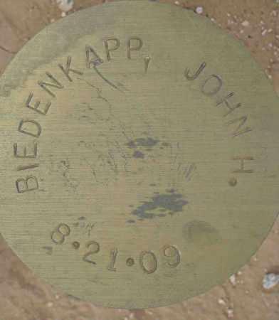 BIEDENKAPP, JOHN H. - Maricopa County, Arizona   JOHN H. BIEDENKAPP - Arizona Gravestone Photos