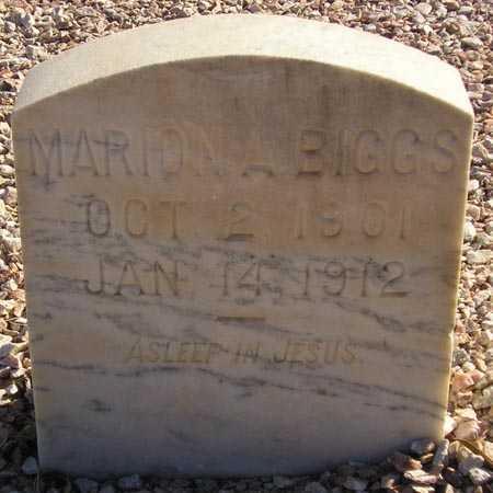 BIGGS, MARION A. - Maricopa County, Arizona | MARION A. BIGGS - Arizona Gravestone Photos